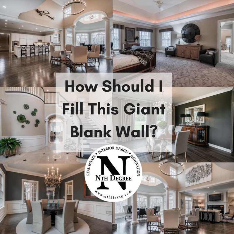 How to decorate a large blank wall - Nth Degree - Interior ...